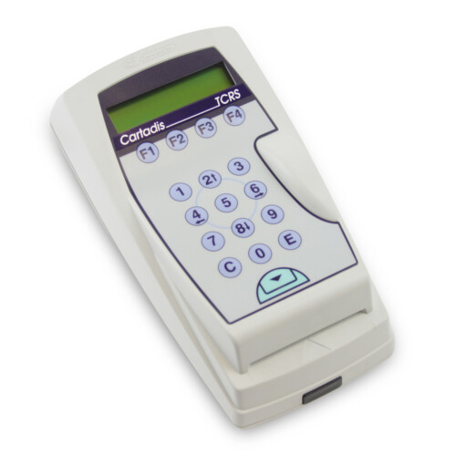 Cartadis TCRS magnetic card reader connected to a payment station enables the payment of prints by using a Cartadis magnetic card